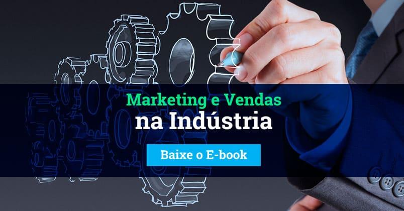 Ilustração de uma pessoas escrevendo em uma engrenagem, simbolizando o contato entre o Marketing B2B e a indústria 4.0.